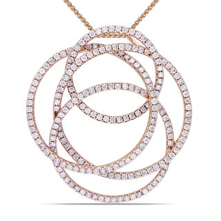 Miadora 14k Rose Gold 2 1/2ct TDW Diamond Necklace (G-H, SI1-SI2)