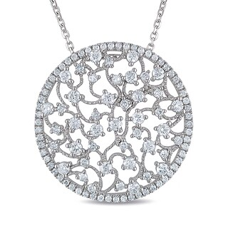 Miadora 14k White Gold 1 1/2ct TDW Diamond Necklace (G-H, SI1-SI2)