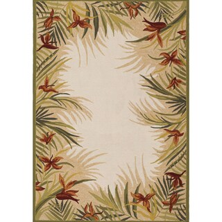 Couristan Covington Tropic Gardens/ Sand and Multi Area Rug (8 x 11) - 8' x 11'