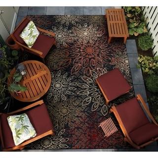 """Gelato Salerno Multicolor Indoor/Outdoor Area Rug - 4' x 5'10"""""""