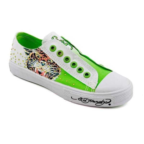 Ed Hardy Women's 'Lowrise Stone' Canvas Casual Shoes