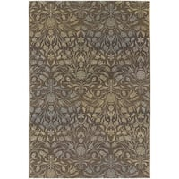 Couristan Dolce Coppola/ Brown-Beige Indoor/Outdoor Area Rug - 4' x 5'10