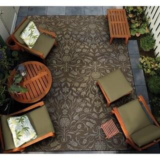 """Gelato Pennino Brown-Beige Indoor/Outdoor Area Rug - 4' x 5'10"""""""