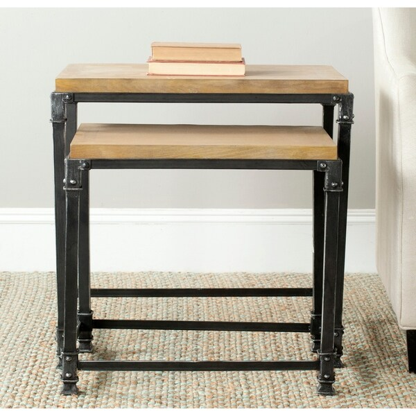 Safavieh Abraham Natural Nesting Tables (Set of 2) - 0. Opens flyout.