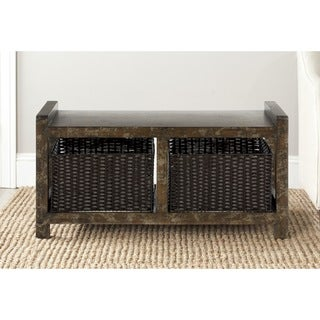 Safavieh Arnold Dark Brown Storage Console Table