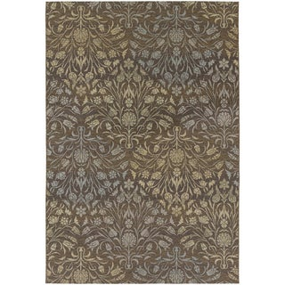 Dolce Coppola/ Brown-Beige Area Rug (7'10 x 10'9)