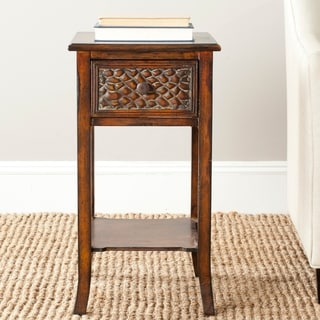 Safavieh Ernest Dark Brown Accent Table