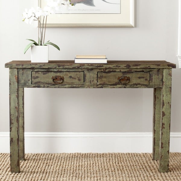 Safavieh Carl Antique Green Console Table