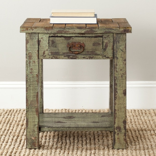 Safavieh Alfred Antique Green Accent Table