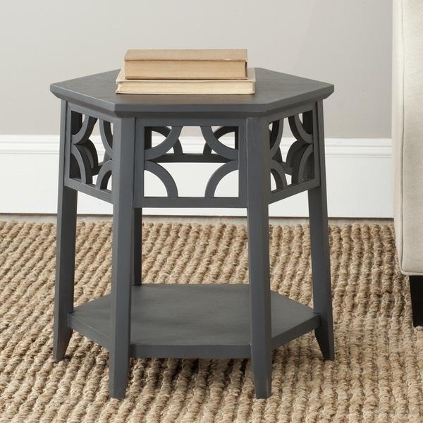 Safavieh Connor Charcoal Grey Hexagon End Table