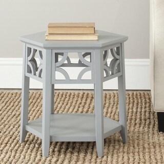 Safavieh Connor Pearl Blue Grey Hexagon End Table