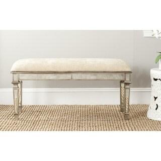 Safavieh Layla Beige Mirrored Bench
