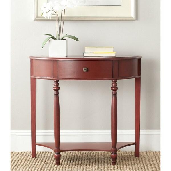 Foyer Table Overstock : Shop safavieh david dark brown console table free