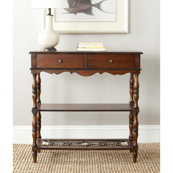 Safavieh Fiona Dark Brown Console Table