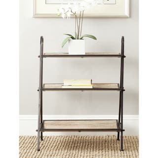 safavieh oswald natural etagere - Affordable Bookshelves