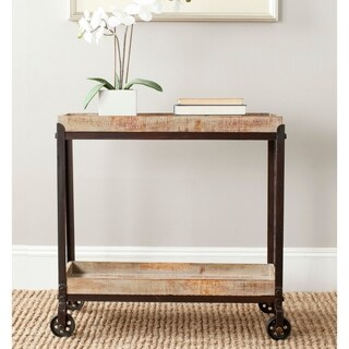 Safavieh Sally Natural Rolling Console Table
