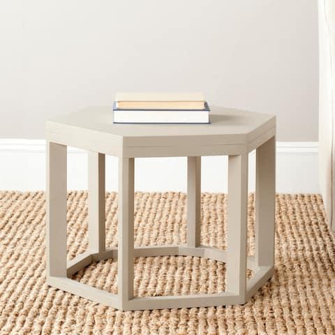 Safavieh Heidi Pearl Taupe End Table - 0