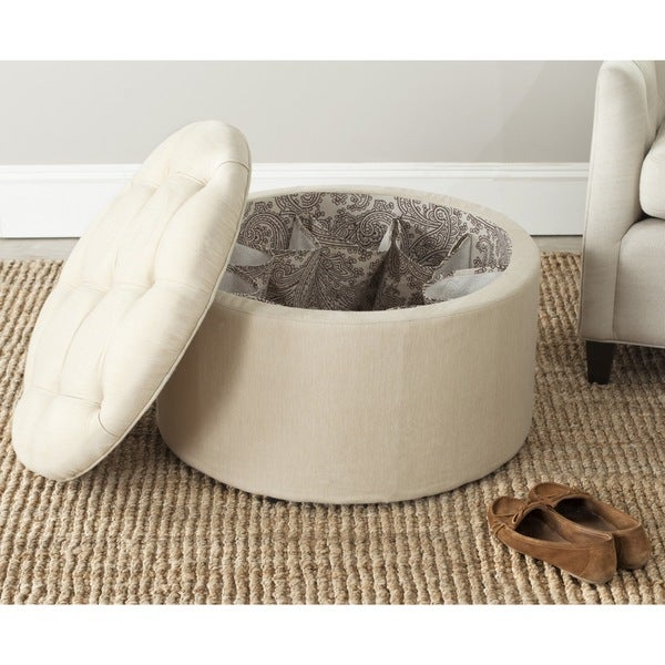 Safavieh Tanisha Beige Shoe Storage Ottoman Free Shipping Today Overstock Com 15217076