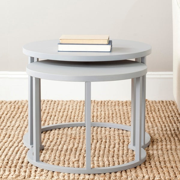 Safavieh Chindler Pearl Blue Grey Nesting Tables (Set of 2). Opens flyout.