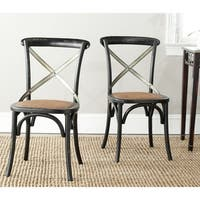 Safavieh Country Classic Dining Eleanor Black X-Back Dining Chairs (Set of 2)