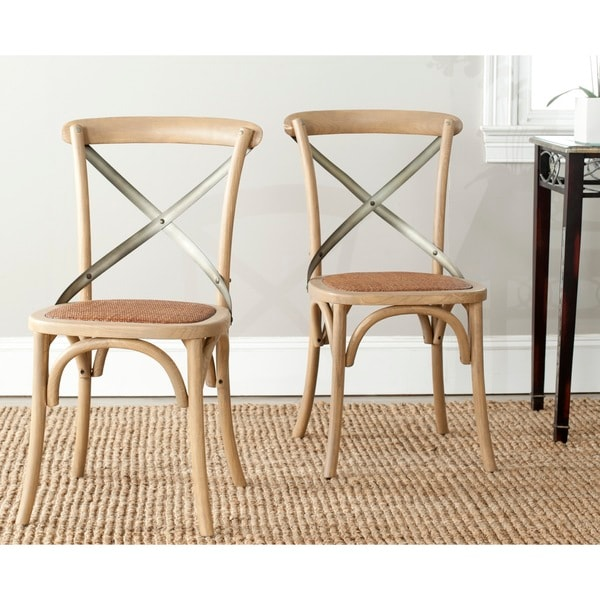 Safavieh Eleanor Oak X-Back Dining Chair (Set of 2)