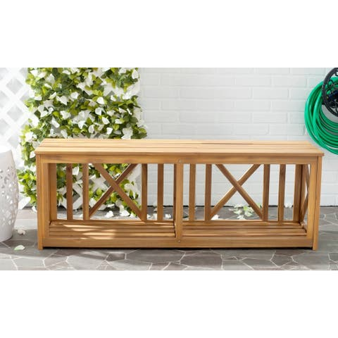"Safavieh Outdoor Branco Bench - 51.2"" x 13.8"" x 18.1"""