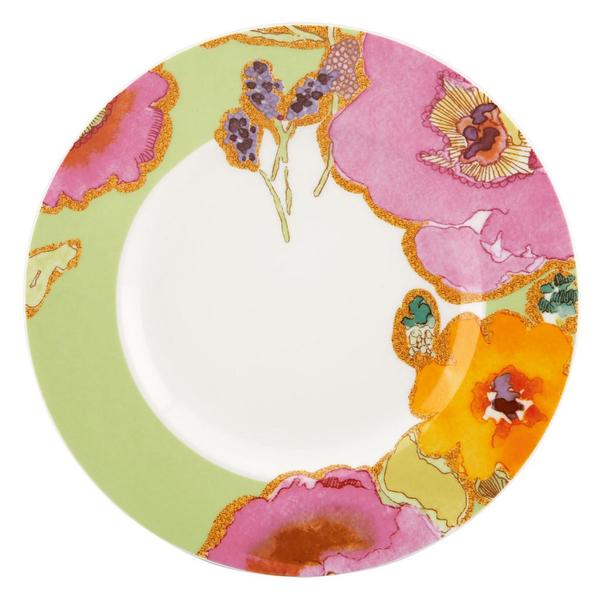 Floral Fusion Kiwi Accent Plate
