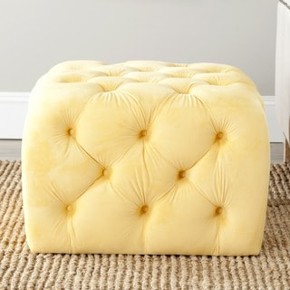 Safavieh Kenan Sunflower Yellow Ottoman