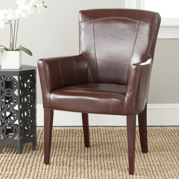 Safavieh En Vogue Dining Dale Brown Arm Chair Free