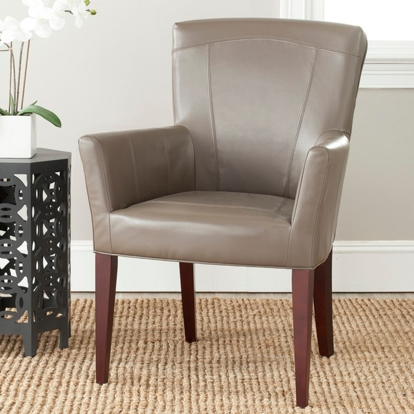 """Safavieh Dining Dale Grey Arm Chair - 26.8"""" x 25.8"""" x 39.2"""". Opens flyout."""