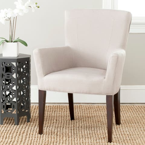 """Safavieh Dining Dale Taupe Arm Chair - 26.8"""" x 25.8"""" x 39.2"""""""