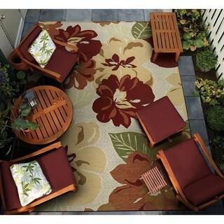 """Gelato Giardino Rose Indoor/Outdoor Area Rug - 8'1"""" x 11'2"""""""