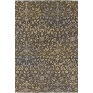 Dolce Coppola/ Brown-Beige Area Rug (5'3 x 7'6)
