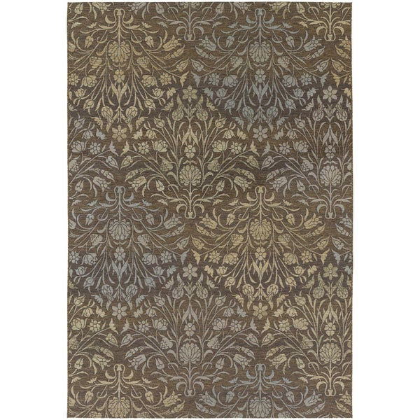 Dolce Coppola/ Brown-Beige Area Rug (5'3 x 7'6)