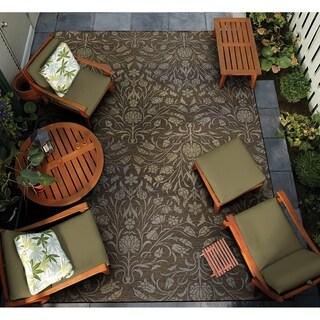 """Gelato Pennino Brown-Beige Indoor/Outdoor Area Rug - 5'3"""" x 7'6"""""""