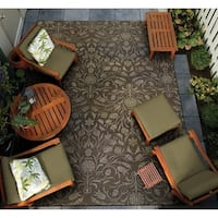 Couristan Dolce Coppola/Brown-Beige Indoor/Outdoor Area Rug - 5'3 x 7'6