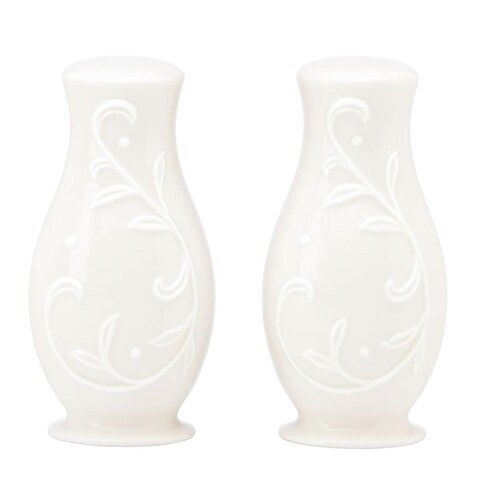 Lenox Opal Innocence Carved Salt and Pepper Set