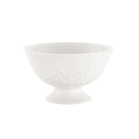 Opal Innocence Carved Footed Dessert Bowl