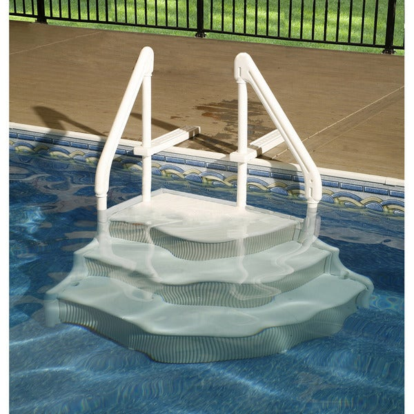 Blue Wave Grand Entrance Step For In Ground Pools Free