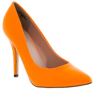 51490aac11b Riverberry Women s  Athena  Orange Pointed Toe Stiletto Hee.