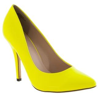 Riverberry Women's 'Athena' Yellow Pointed Toe Stiletto Heels