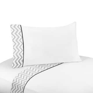 Sweet JoJo Designs 200 Thread Count Black and Grey Zig Zag Sheet Set|https://ak1.ostkcdn.com/images/products/7827950/7827950/Sweet-JoJo-Designs-Black-and-Grey-Zig-Zag-Sheet-Set-P15217169.jpg?impolicy=medium
