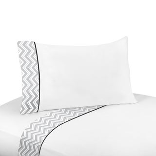 Sweet JoJo Designs 200 Thread Count Black and Grey Zig Zag Sheet Set (2 options available)