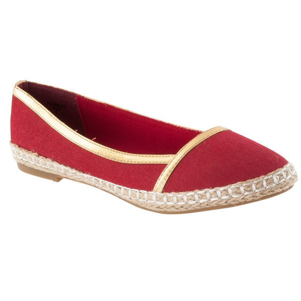 Riverberry Women's 'Flora' Microsuede Casual Flats