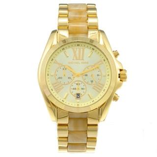 Michael Kors Women's MK5722 Bradshaw Horn and Gold-Tone Watch
