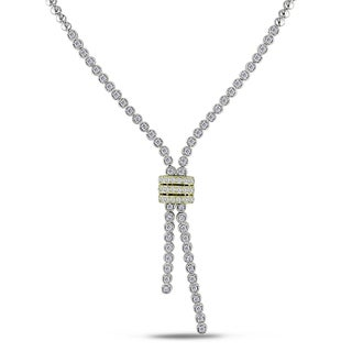 Miadora Signature Collection 14k White Gold 1 1/2ct TDW Diamond Lariat Necklace (G-H, SI1-SI2)