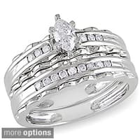 Miadora 10k Gold 2/5ct TDW Diamond Bridal Ring Set