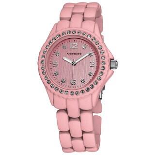 Vernier Ladies Soft Touch Pink Pastel Bracelet Quartz Fashion Watch