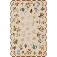 Couristan Outdoor Escape Coral Dive Sand Area Rug - 3'6 x 5'6
