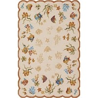 Couristan Outdoor Escape Coral Dive/Sand Indoor/Outdoor Area Rug - 5'6 x 8'